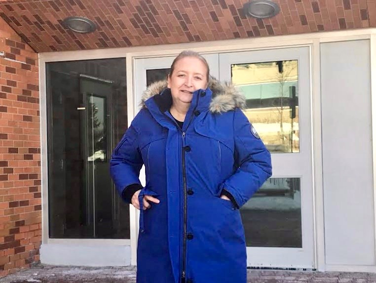 Kassidi Coyle's mother Judi leaves the Barrie courthouse after a man was convicted of sexually assaulting Kassidi.
