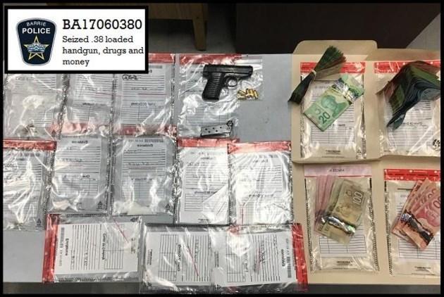 2017-12-07 drug firearms cah Barrie Police