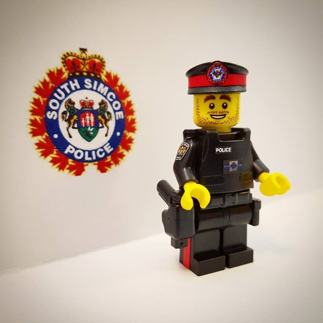 south simcoe police get lego cop for 20th anniversary