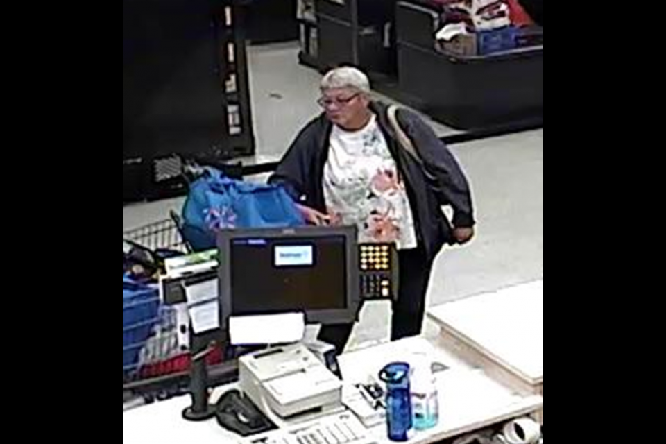 Police are looking for two suspects after a TV and sound bar were stolen from Walmart