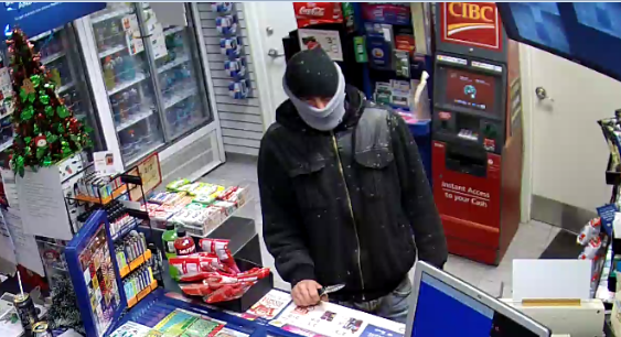 Police hope to identify this suspect involved in a convenience store robbery on Saturday, Nov. 19. Photo provided
