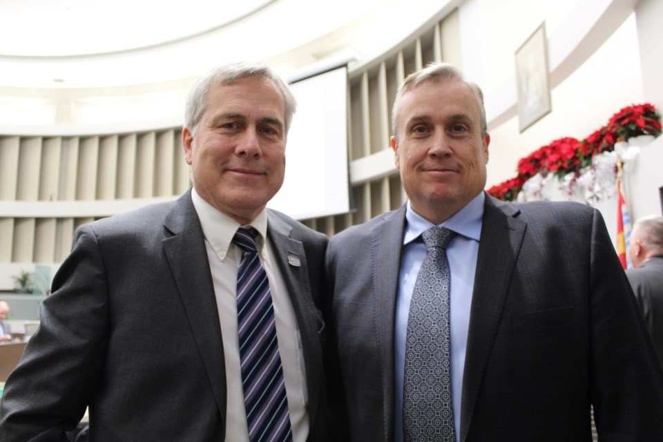 Couns. Barry Ward, left, will oversee Doug Shipley's (right) Ward 3 responsibilities as Shipley seeks the BSOM job in the upcoming federal election. Raymond Bowe/BarrieToday