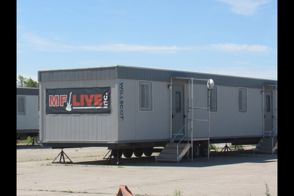 Trailers for MF Live sit empty Wednesday morning. Shawn Gibson/BarrieToday