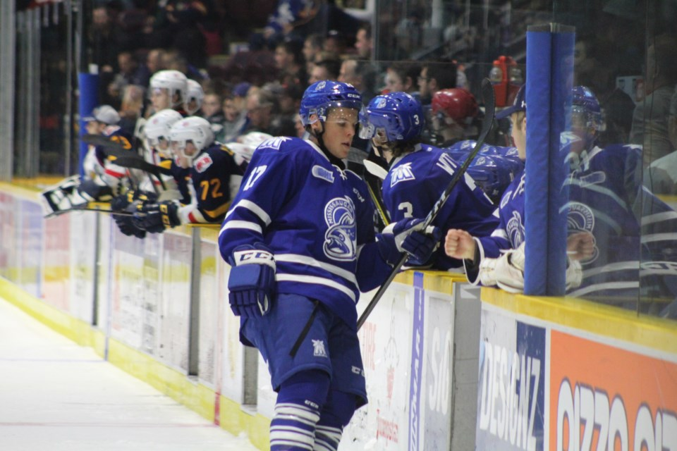 Orillia native Kyle Heitzner played his first game back in Barrie after the Colts traded the forward recently to the Mississauga Steelheads. Raymond Bowe/BarrieToday