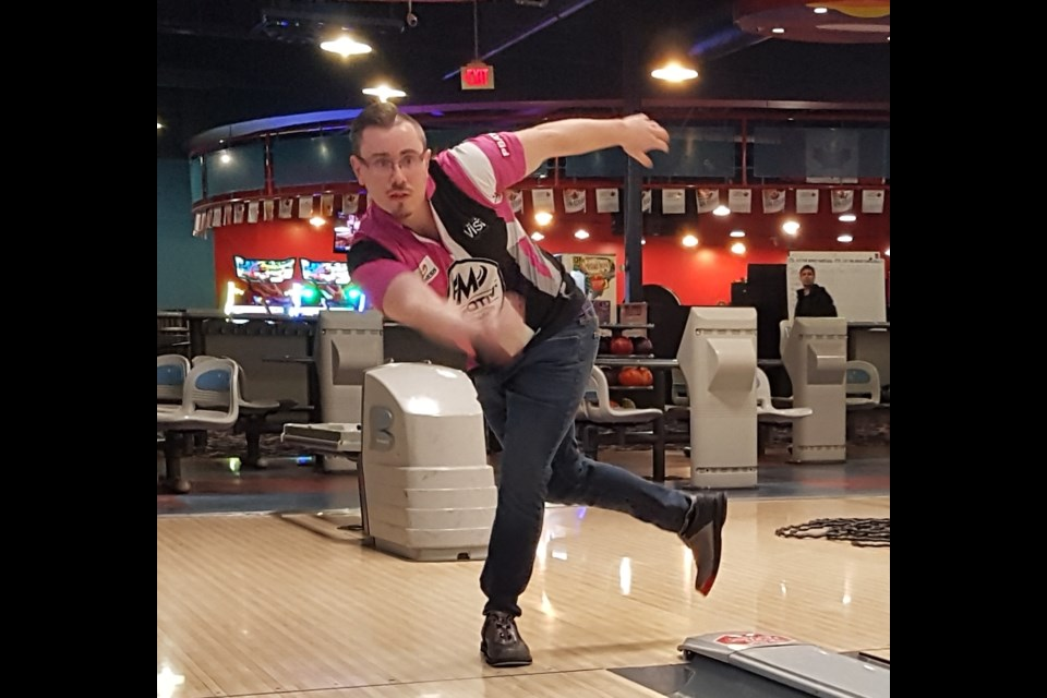 Zach Wilkins showing the form that he hopes takes him to a PBA Tour title. Shawn Gibson/BarrieToday