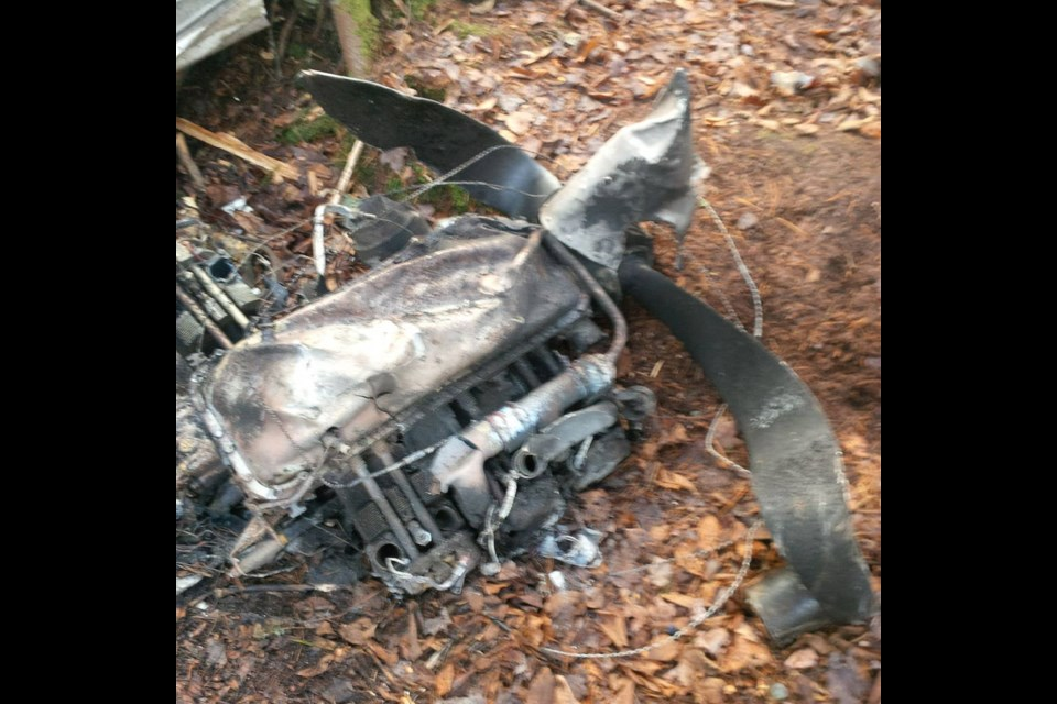 Photo courtesy of the Transportation Safety Board shows wreckage from a November 9 plane crash in Seguin Township.
