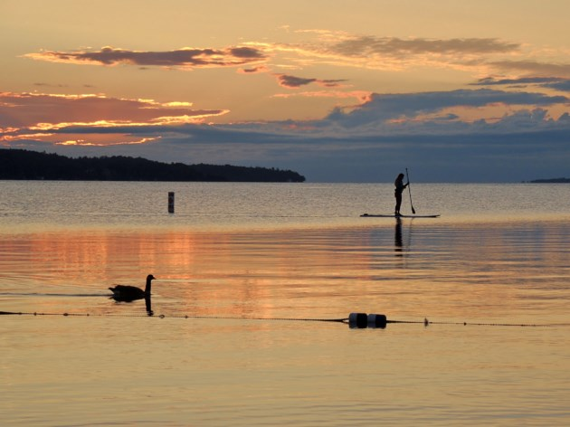 Sunrise paddleboard Aug. 6, 2017