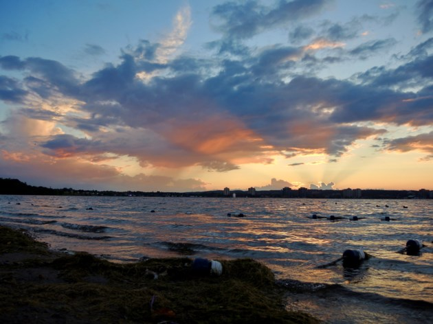 sunset Aug. 7, 2017