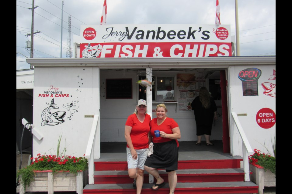 Jerry Van Beek's Fish and Chips Restaurant Jennifer MacKenzie (left) and Donna Bean (right)  photo credit Shawn Gibson