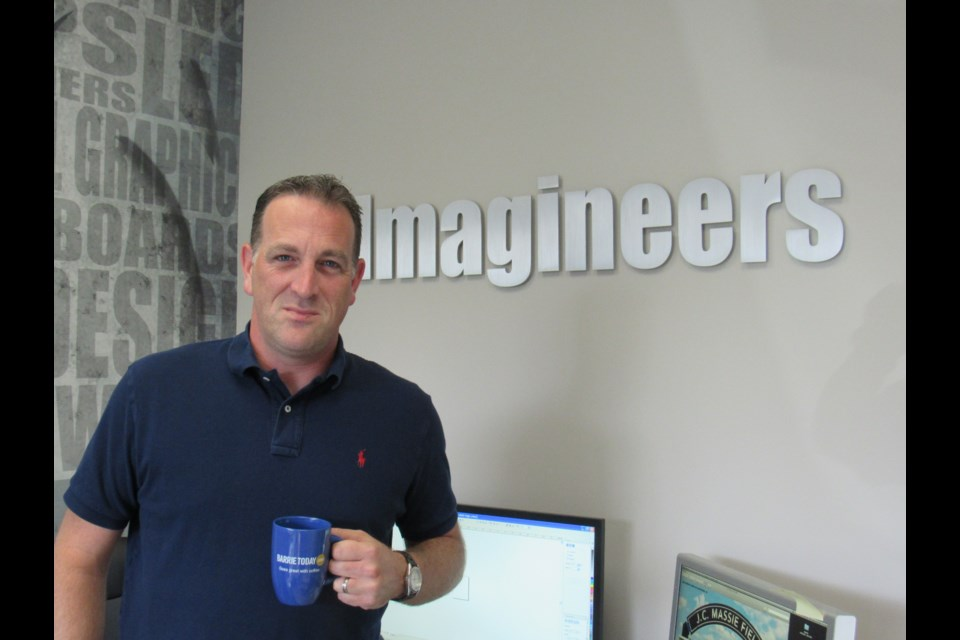 Jason Ouellette of Imagineers. Photo by Shawn Gibson for BarrieToday
