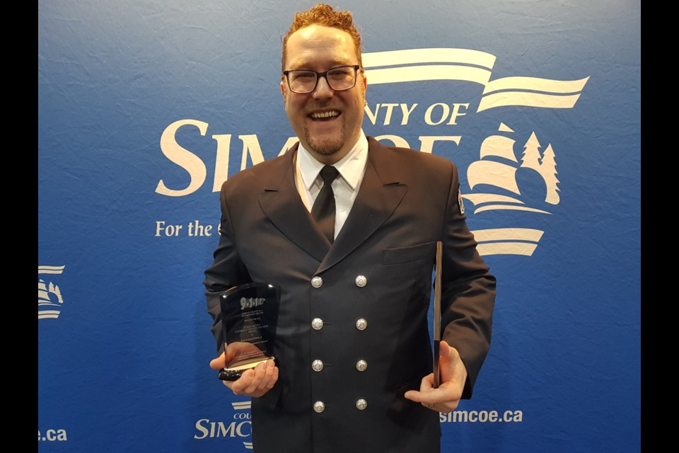Ryan Macdonald from the Barrie Fire and Emergency Services won the top individual award Thursday afternoon. Shawn Gibson/BarrieToday