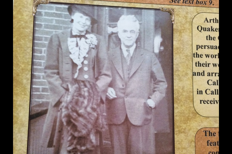 Previously unpublished photo of famed pilot Amelia Earhart and Dr. Allan Dafoe during her 1937 visit to Callander