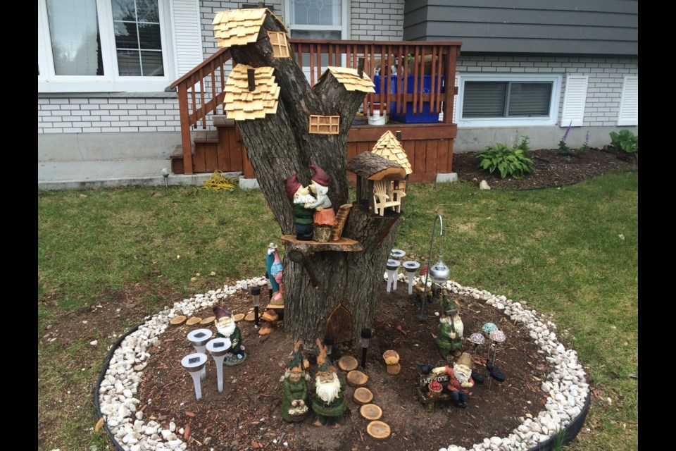 Turning a tree stump into a magical piece of art