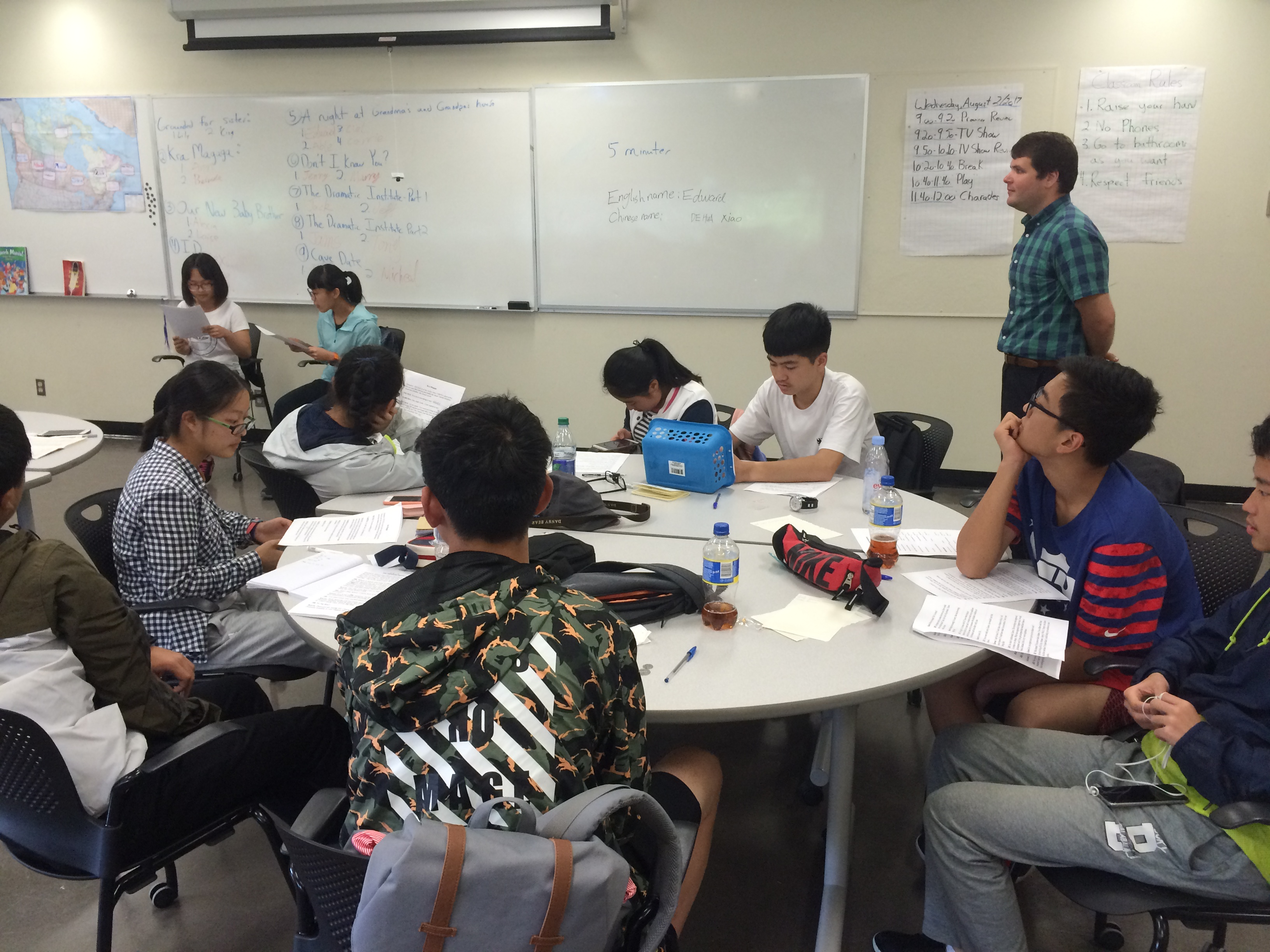 Chinese students learning English in North Bay develop an