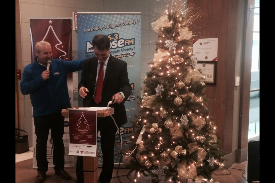 nipissing timiskaming mp anthony rota officially launches the 2017 festival of trees blue sky region - Where Does The Christmas Tree Come From