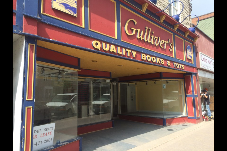 Making room for a new business at Gulliver's Quality Books and Toys in downtown North Bay