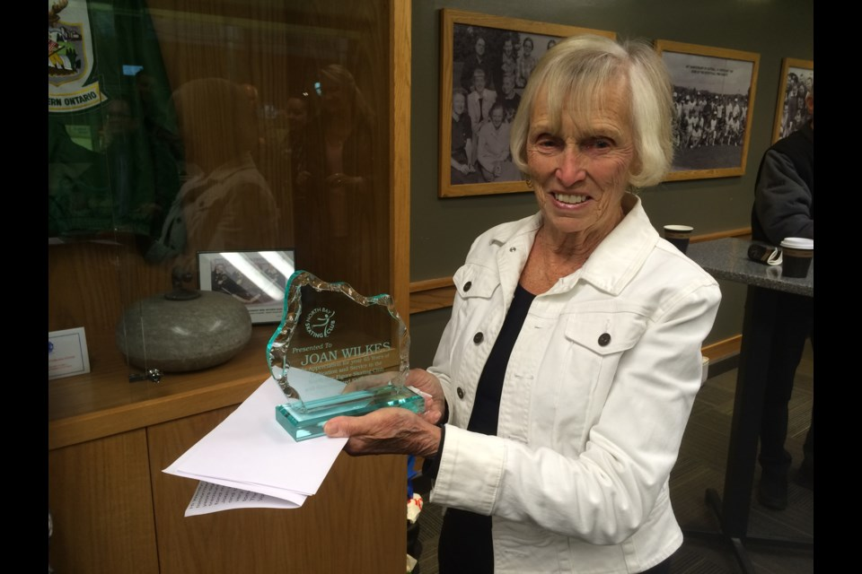 Joan Wilkes celebrates 65 years with the North Bay Figure Skating Club