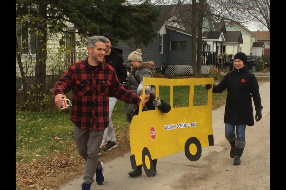 Walking school bus gives children extra physical activity