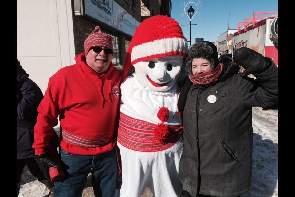 Bonhomme celebrating outdoor activities during the 56 annual Le Carnaval in North Bay