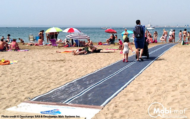 Expect to see a beach access mat similar to this installed at Marathon Beach in North Bay this June