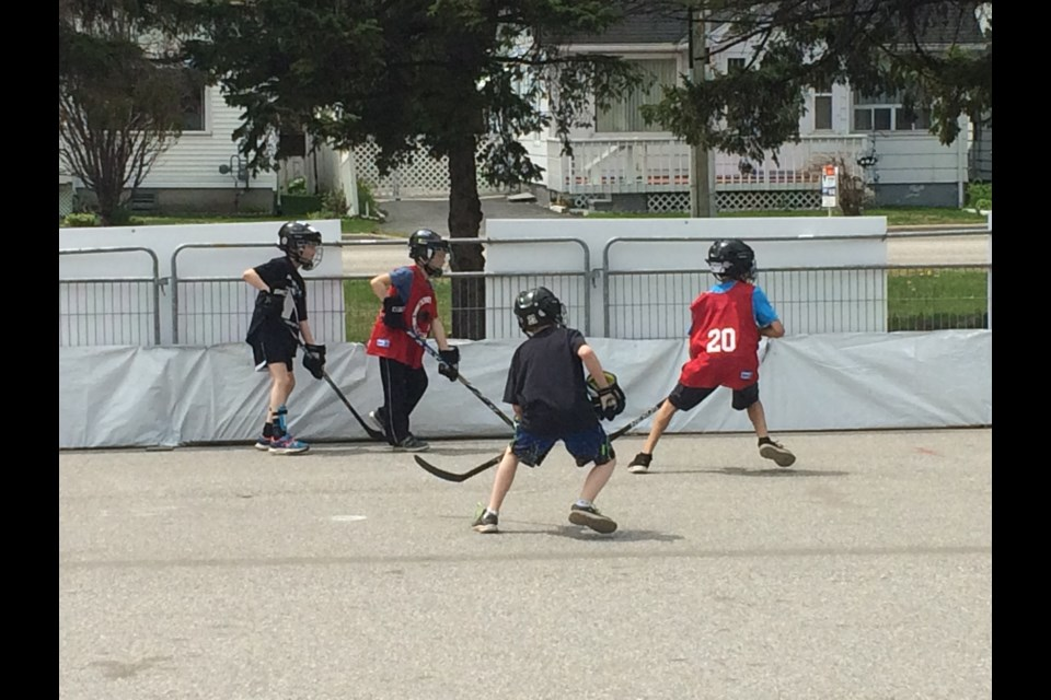 YMCA Road Hockey Classic elementary day scores over 200 children from grade 3 to grade 8