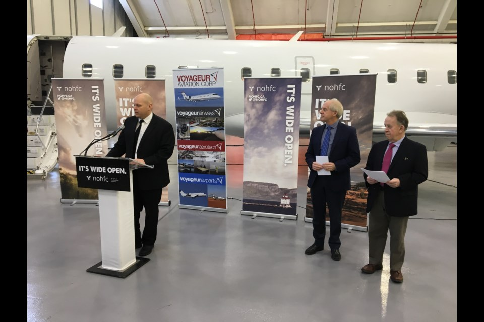 Voyaguer Aviation has received $.275 million from the province to expand its maintenance, repair and overhaul operation in North Bay. (Christ Dawson photo)