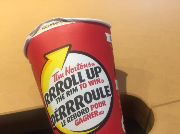 20180212 tim hortons roll up the rim turl