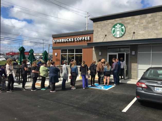 Starbucks draws huge crowds on opening day