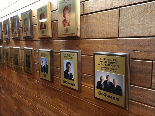 20190313 kiwanis citizen of the year wall