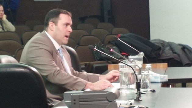 Neal McNamara addresses North Bay City Council, December 2016