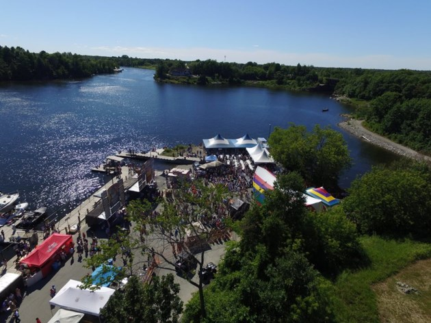 rock n ribs 2016 drone view