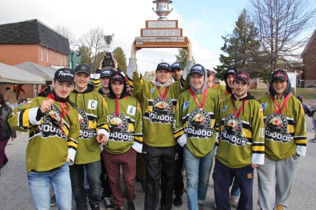powassan voodoos proudly display nojhl championship trophy turl 2017