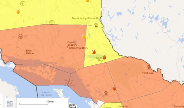 Northbay Fire Map.Two New Fires In Northeast Region Hazard High Baytoday Ca