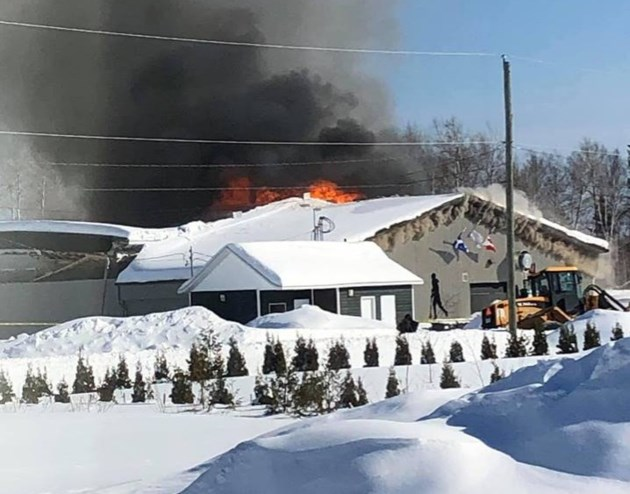20190219 timiskaming arena fire