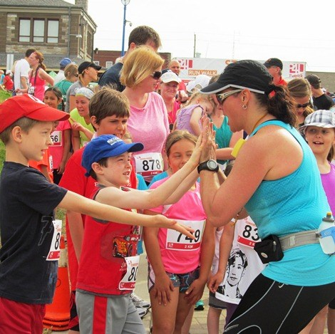 High 5s before the horn for the 2km run sounds