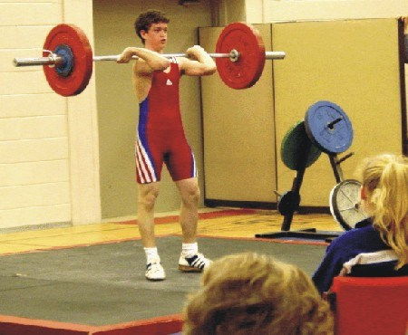 Chad Mathieu of the North Bay Norsemen competes in the 62kg division where he placed first
