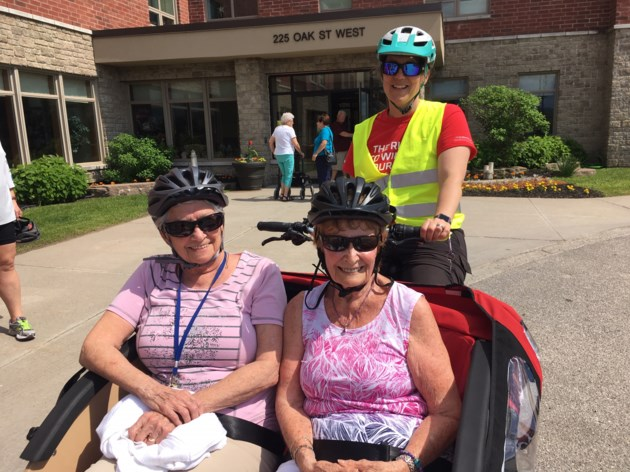 Seniors enjoy rides at Trishaw bike launch