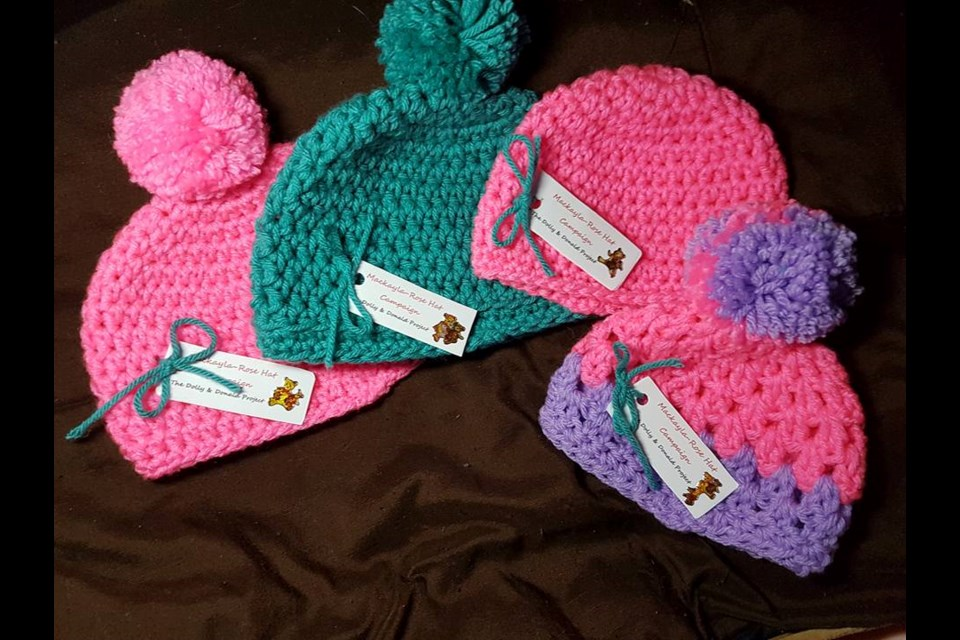 The MacKayla-Rose Hat Campaign is seeking donations of hand-made hats for  babies 639648e56eb