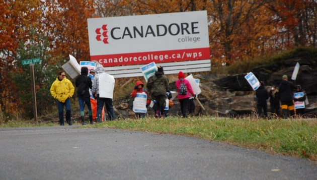 canadore college faculty strike picketers jpg 2017