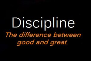 Be Disciplined and Be Rich