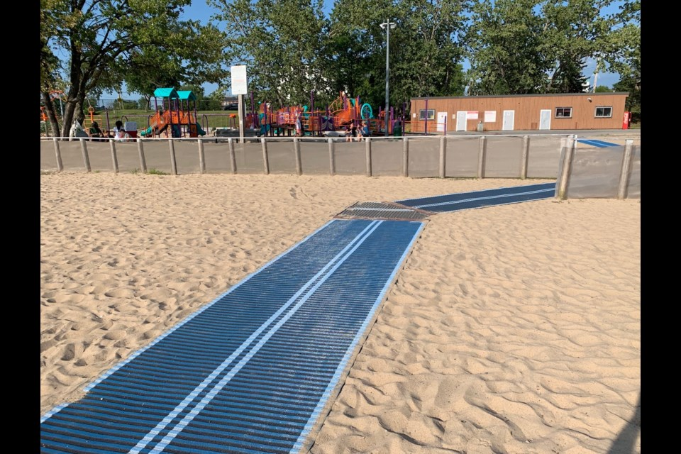 The Wheels to Water Marathon beach accessible mat. Jeff Turl/BayToday.