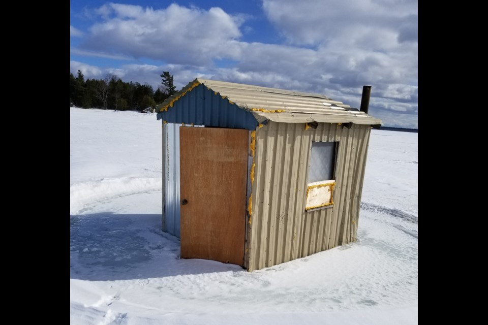 Iron Island ice hut.