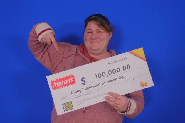100,000.00_Cindy Landriault of North Bay