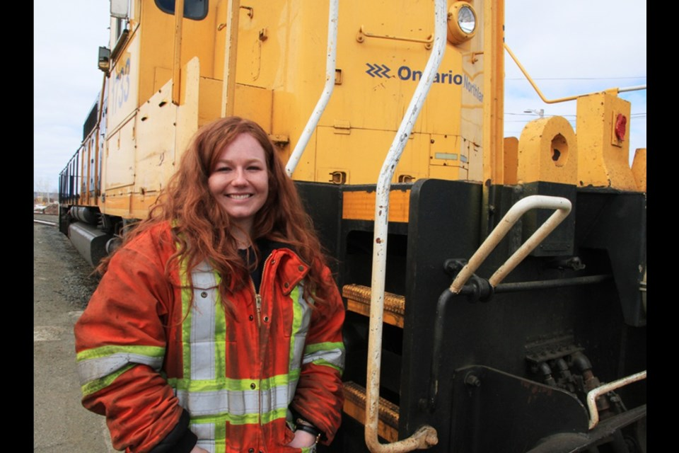 "Jodie Nichols, a rookie conductor from North Bay, will be featured on the ""Rocky Mountain Railroad"" series on Discovery. (Supplied photo)"