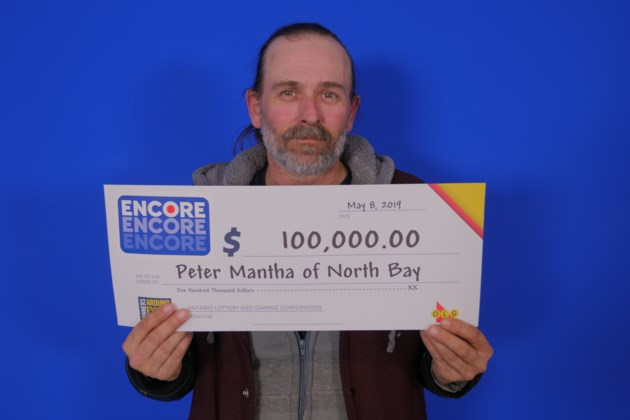 Encore May 4, 2019_100,000.00_Peter Mantha of North Bay