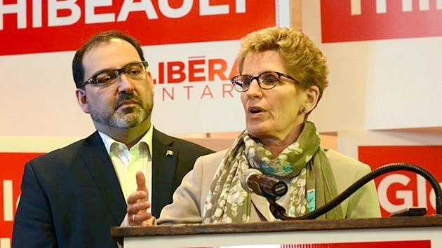 Ontario Premier Kathleen Wynne |(pictured here with Sudbury MPP Glenn Thibeault) testifies today at the Sudbury byelection bribery trial. (File)