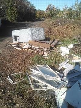 This small hot tub was dumped near a railway bed off Highway 17 just west of North Bay.  Photo submitted.