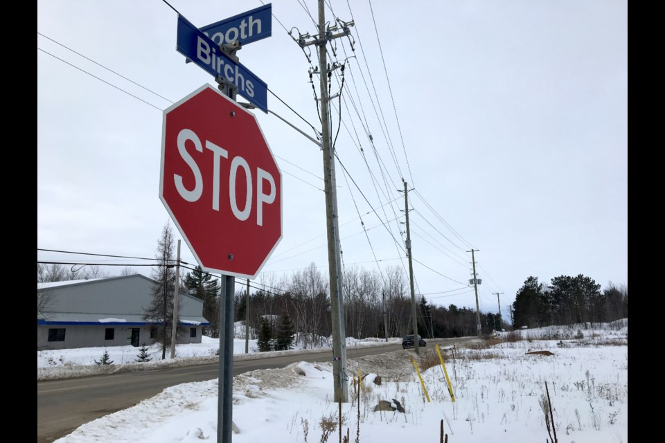 View of Birchs Road where a 35-year-old man was fatally injured in a collision. Chris Dawson/BayToday