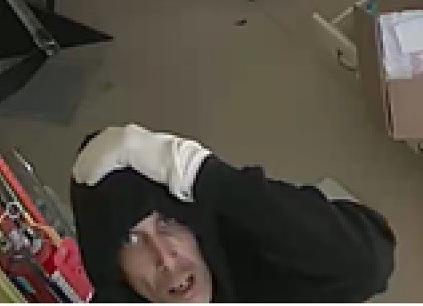 Photo provided of a suspect who broke into a Regina Street business this morning.  Photo submitted.