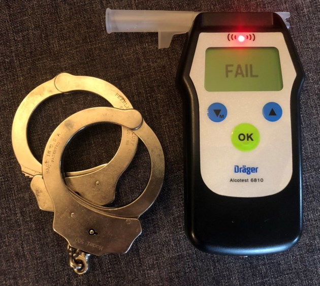 20181216 impaired driving w cuffs and tester
